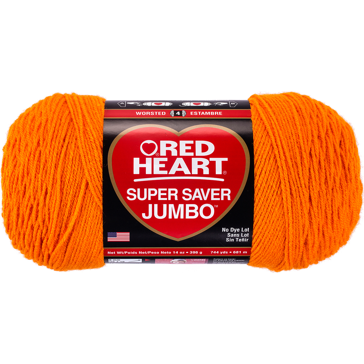 Red Heart Super Saver Yarn-Pumpkin