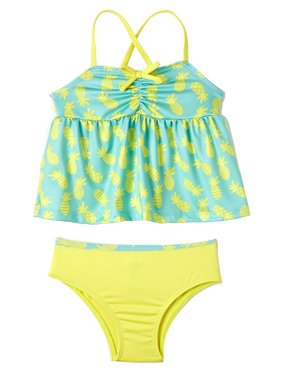 Pink Platinum Pineapple Tankini Swimsuit (Baby Girls & Toddler Girls)