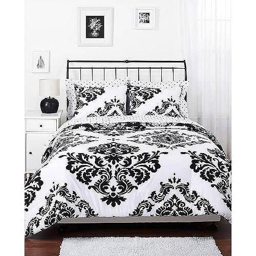 Classic Noir Reversible Comforter Set by Keeco