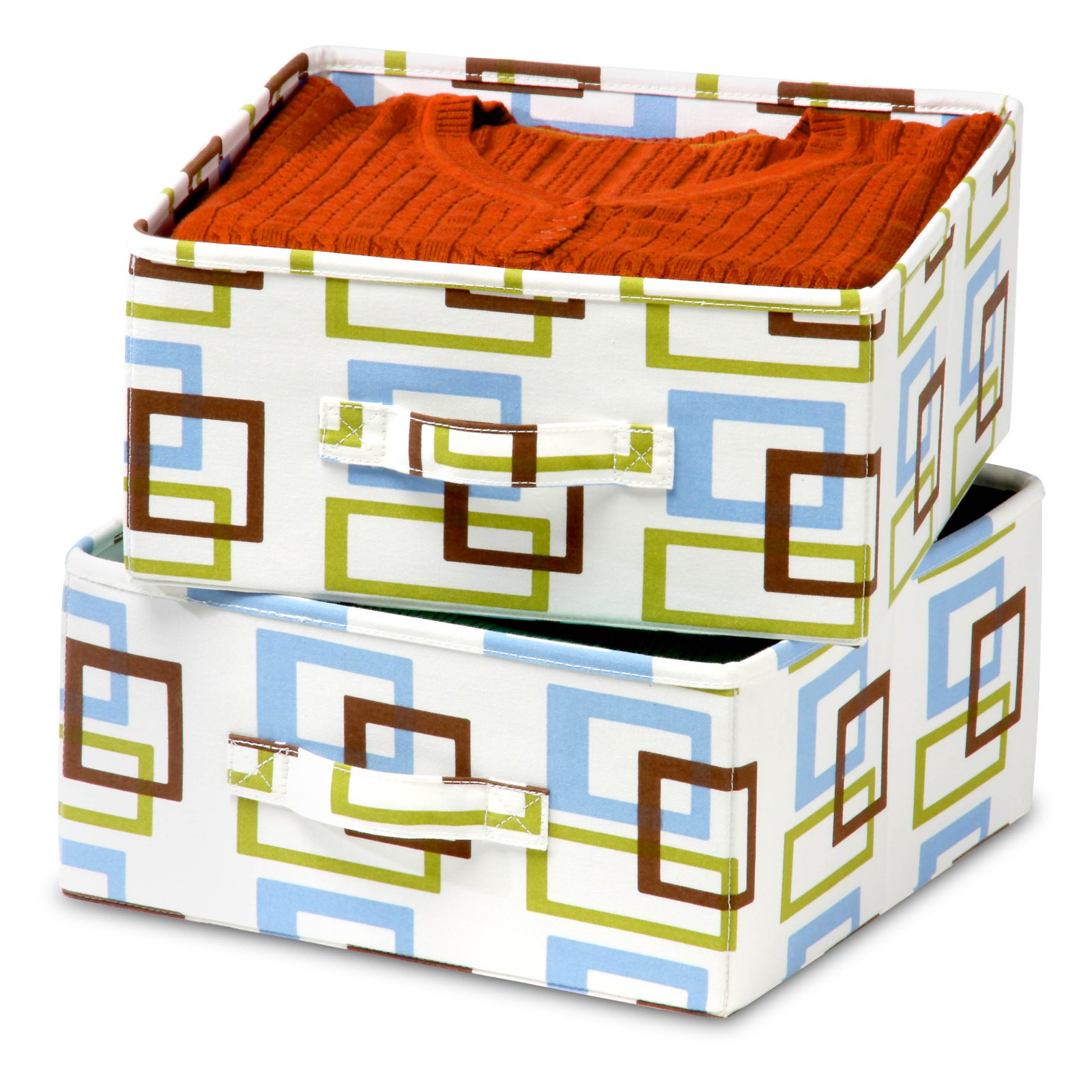 Honey Can Do 2 Pack Multi-Colored Storage Drawers- Multiple Colors