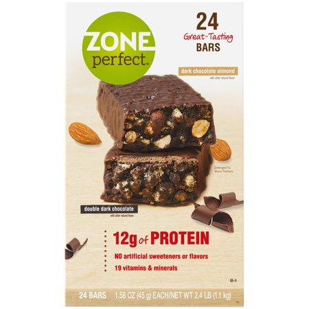 ZonePerfect® Double Dark Chocolate and Dark Chocolate Almond Variety Pack Nutrition Bar 1.76 oz. Bars