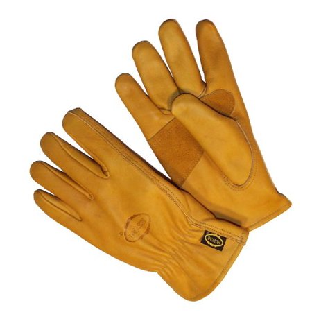 Genuine Patched Leather (G & F 6203L-3 Premium Genuine Grain Cowhide Leathers with Reinforced Patch Palm, Work Gloves, Drivers Glove 3-Pair, Large)