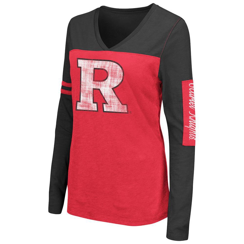 Womens NCAA Rutgers Scarlet Knights Long Sleeve Tee Shirt (Team Color)