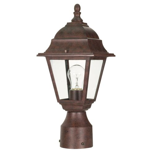1 Light 14 in. Post Lantern Clear Glass by Supplier Generic