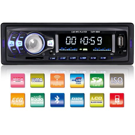 Tagital Car Stereo with Bluetooth In-Dash Single Din Car Radio, Car MP3 Player USB/SD/AUX/Wireless Remote