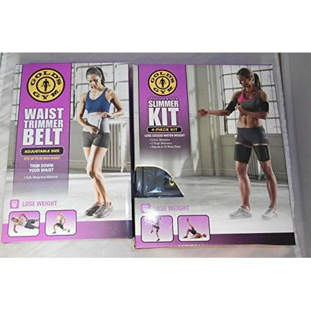 Gold's Gym taille Trimmer ceinture plus Bonus Kit amincissante (4 pièces) et bras Cuisse