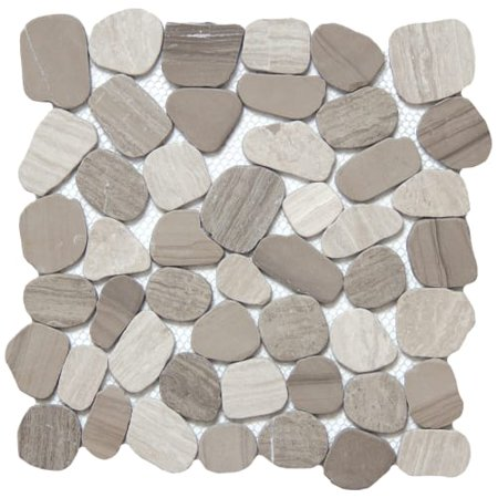 - Emser Tile M05CULT1212MOH Cultura - Pebble Mosaic Floor and Wall Tile - Textured