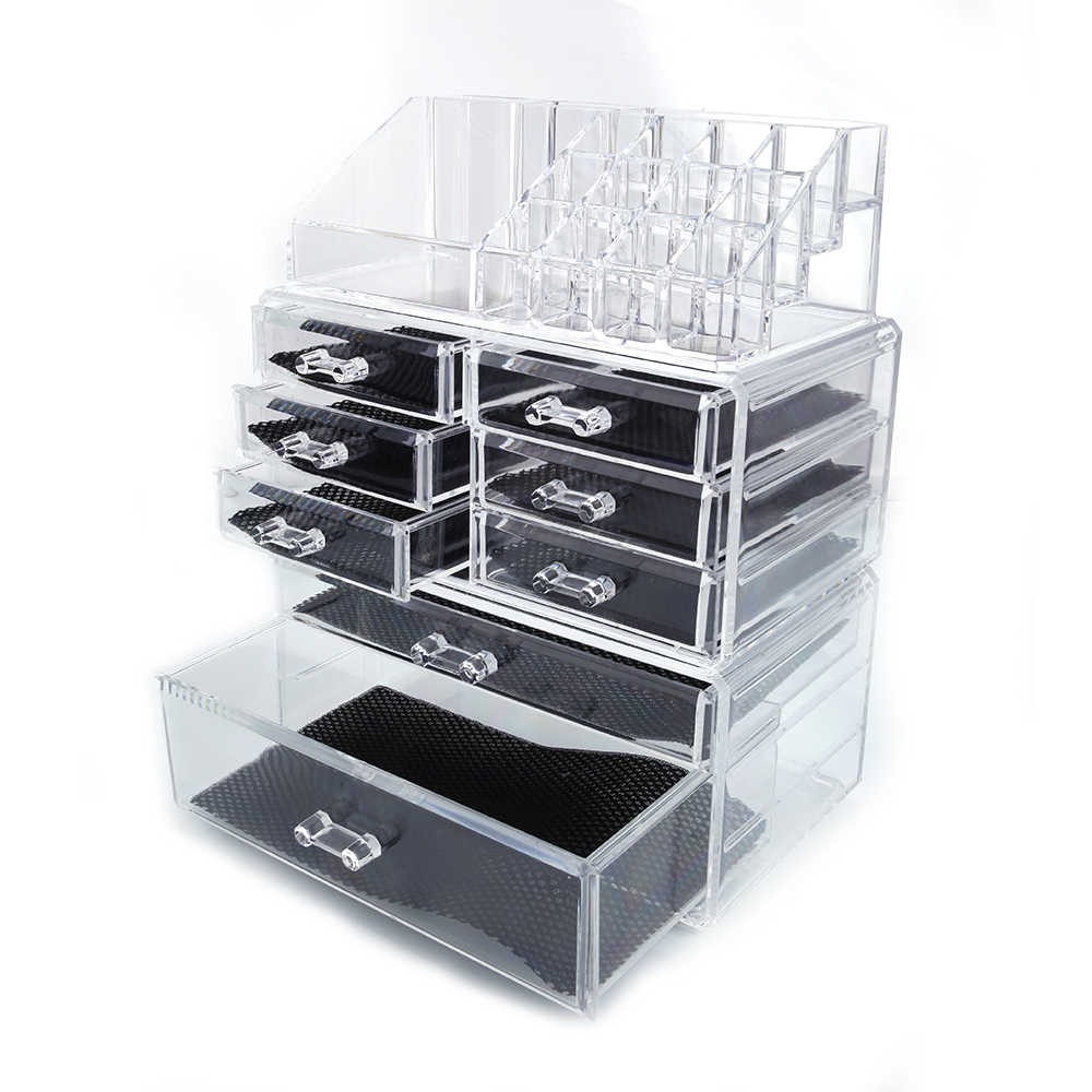 Ktaxon Acrylic Cosmetic Table Organizer Makeup Holder Case Box