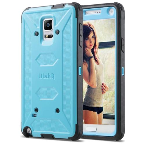 ULAK [KNOX ARMOR] Galaxy Note 4 Case,Rugged Dual Layer Hybrid Protective Cases Cover for Samsung Galaxy Note 4 (Blue/Black)