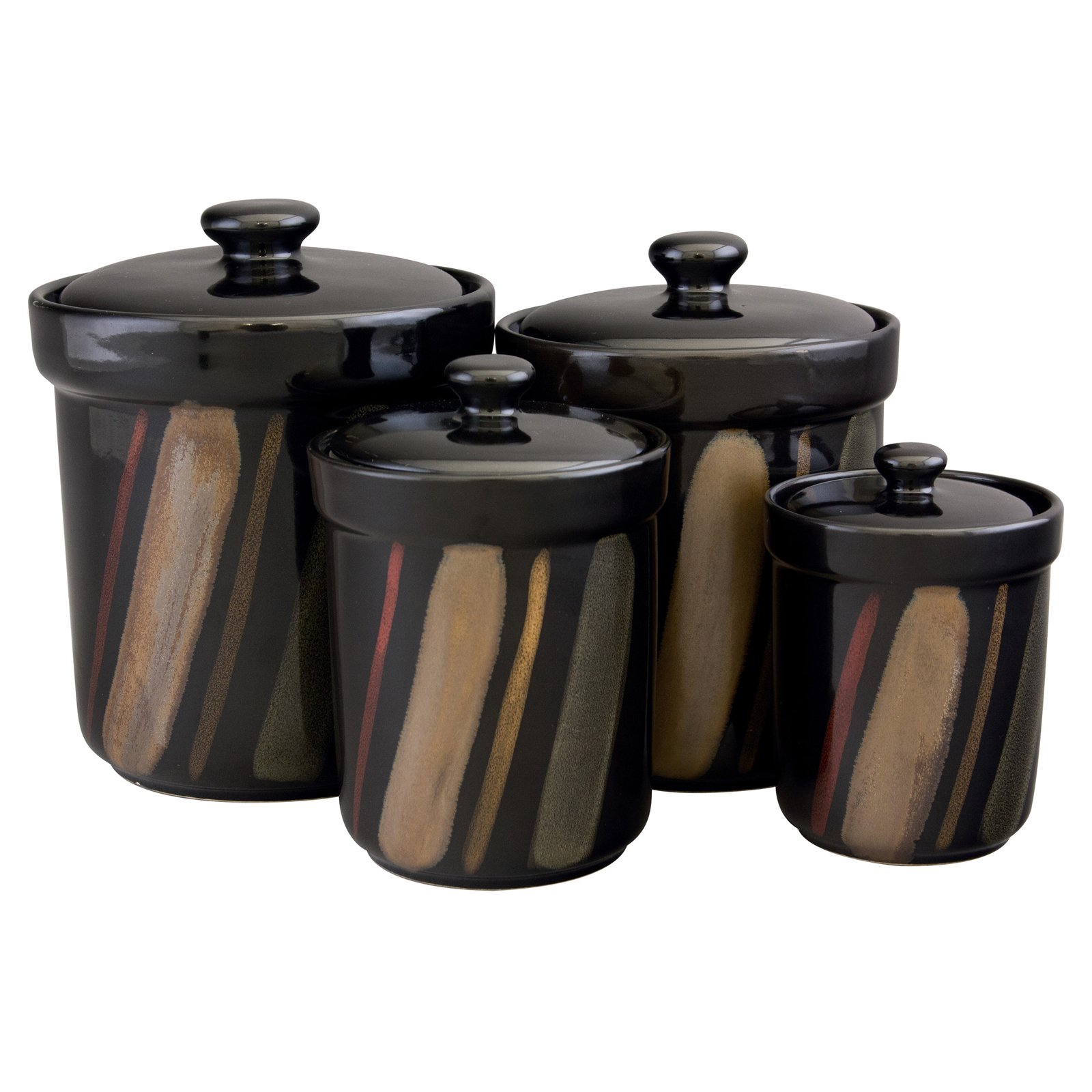black kitchen canister sango avanti black canisters set of 4 walmart com 500