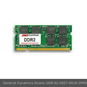 General Dynamics Itronix 62 0657 001R Equivalent 2Gb Dms Certified Memory 200 Pin  Ddr2 667 Pc2 5300 256X64 Cl5 1 8V Sodimm   Dms