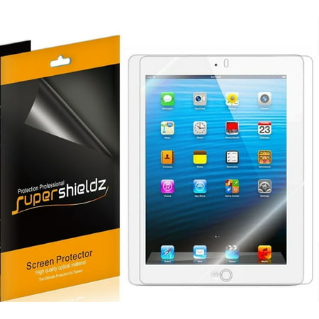 [3-Pack] Supershieldz for Apple iPad 4 / iPad 3 / iPad 2 Generation Screen Protector, Anti-Bubble High Definition (HD) Clear