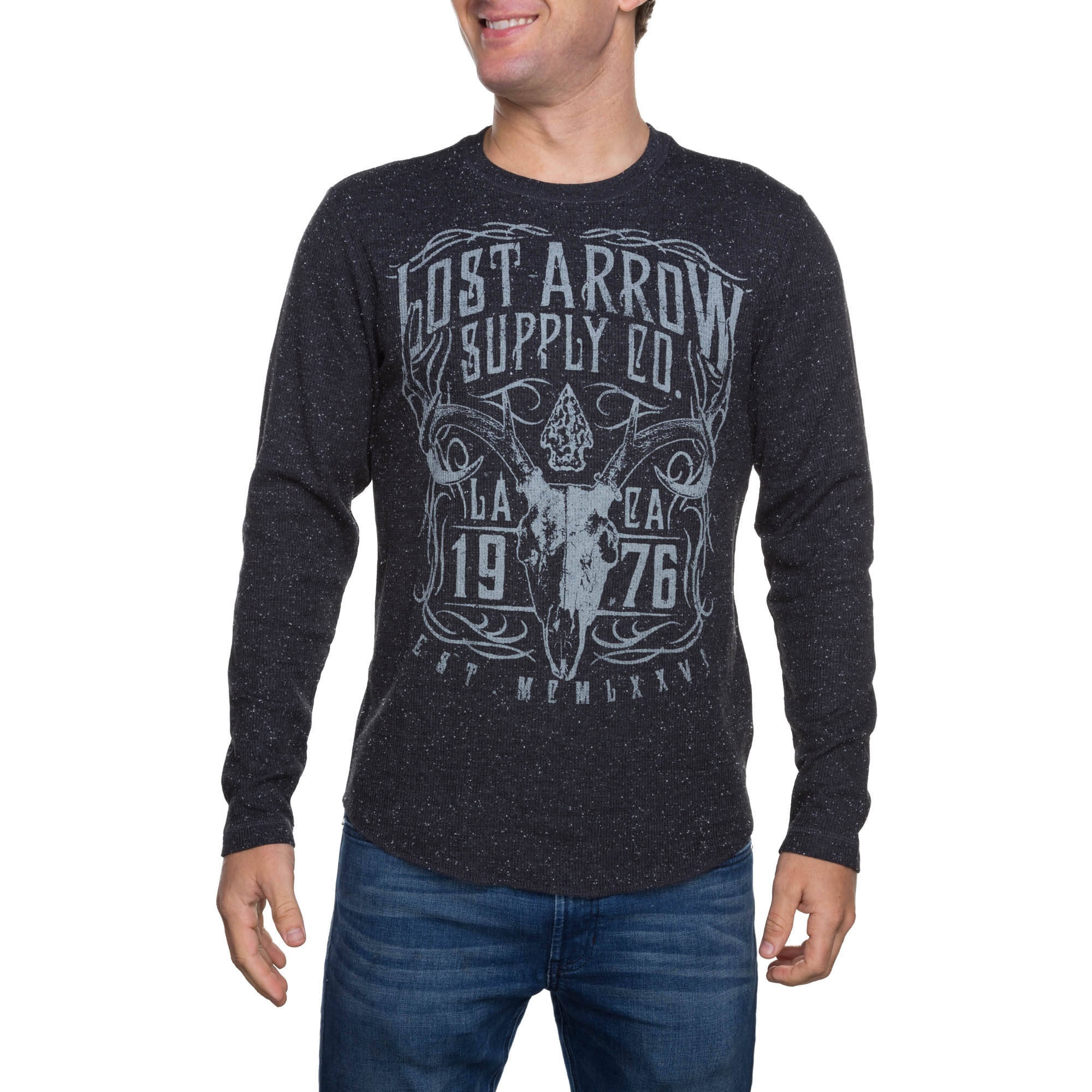 Faded Glory Men's Long Sleeve Lost Arrow Graphic Thermal