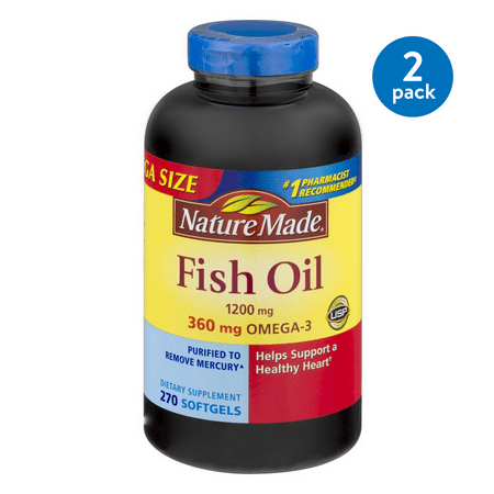 Image of Nature Made Fish Oil Softgels Value Size, 1200mg, 270ct, (2 Pack)