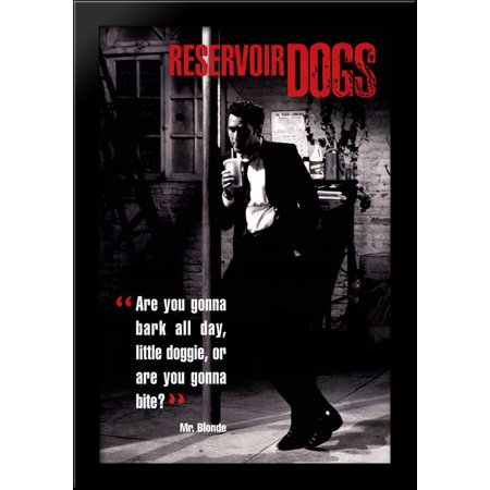 Reservoir Dogs 28x40 Large Black Wood Framed Print Movie Poster Art