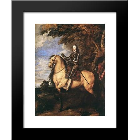 Charles I on horseback 20x24 Framed Art Print by Anthony van Dyck