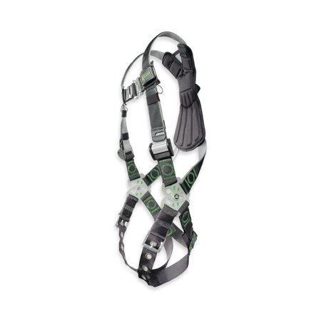 Chest D-rings - Miller by Honeywell Universal DualTech Revolution Full Body Style Harness With Back D-Ring, Quick Connect Chest Strap Buckle, Tongue Leg Strap Buckle And Sub-Pelvic Strap