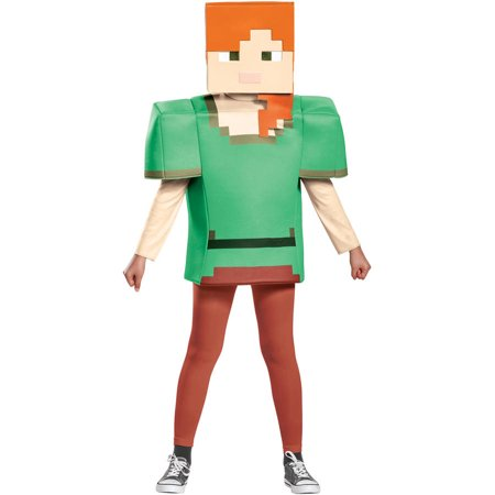 Minecraft Alex Classic Child Halloween Costume - Steve Minecraft Halloween Costume