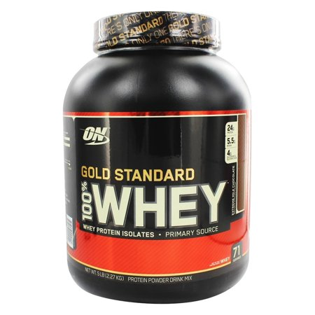 Optimum Nutrition Gold Standard 100% Whey Protein Powder, Extreme Milk Chocolate, 24g Protein, 5 Lb