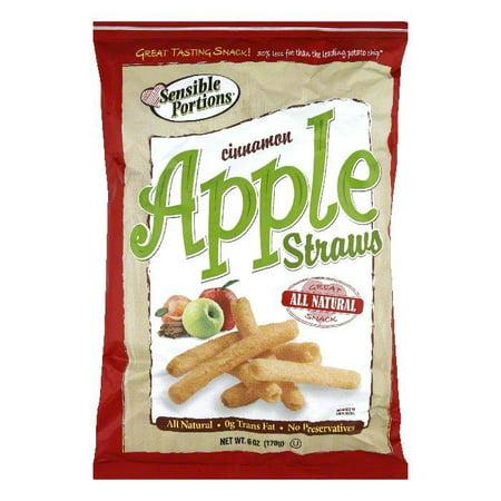 Sensible Portions Cinnamon Apple Straws, 6 OZ (Pack of