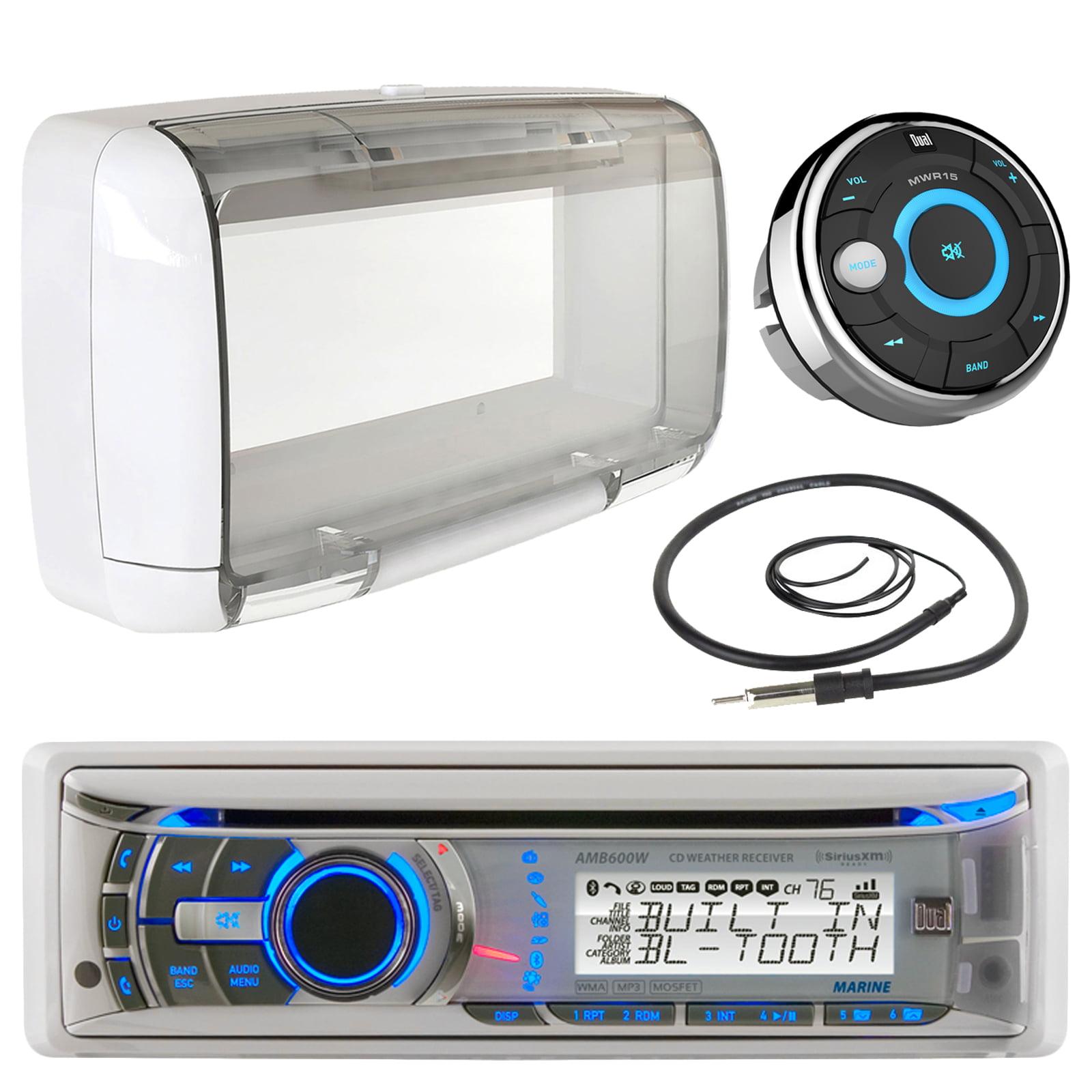 Dual Electronics AMB600W Marine Boat Bluetooth CD/MP3 Stereo ...