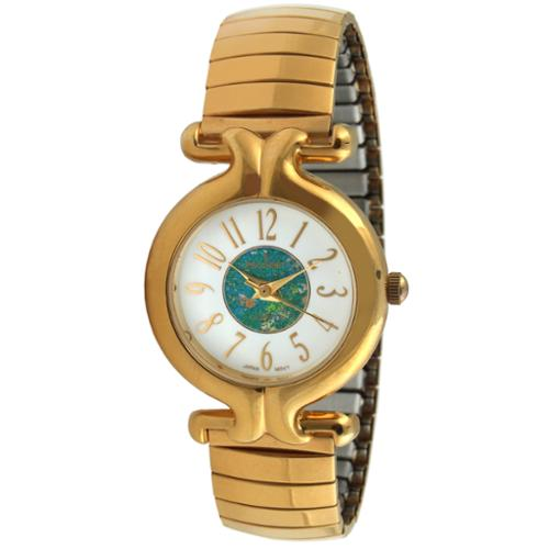 Peugeot Women's Gold-Tone Expansion Band Wrist Watch with Full Arabic Numerals on Easy-to-Read Dial (Arabic Watch)
