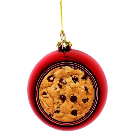 Chocolate Chip Cookie Ornaments Red Bauble Christmas Ornament Balls