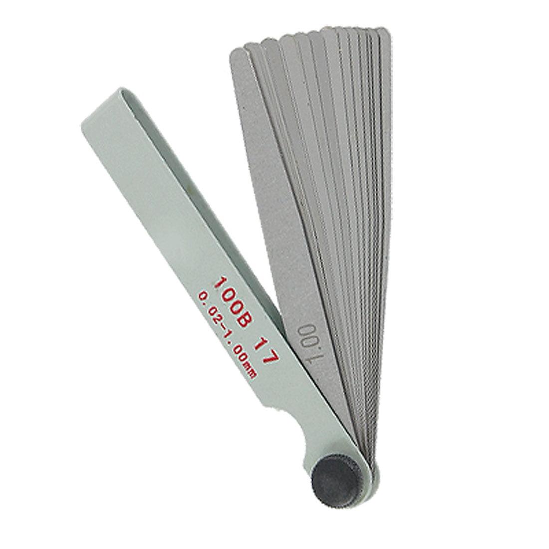 17 in 1 Gap Measure Feeler Gauge Blades 0.02-1mm Tool