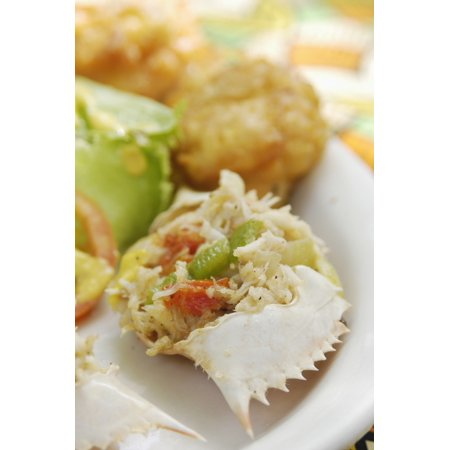 Stuffed Crab Shells Jakes Treasure Beach St Elizabeth Jamaica PosterPrint ()