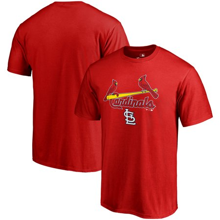 St. Louis Cardinals Fanatics Branded Team Lockup T-Shirt - Red