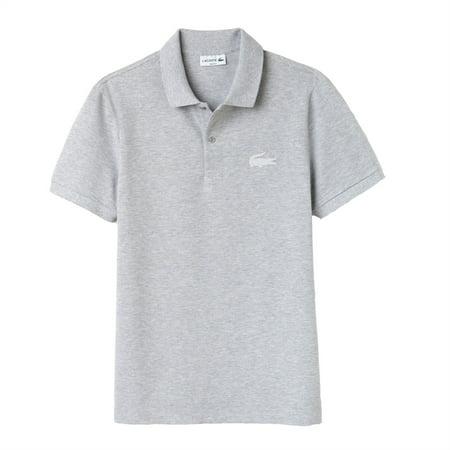 Lacoste Men Slim Fit Rubber Crocodile Stretch Piqué Polo Shirt