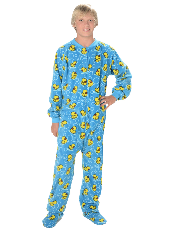 089b1b955a50 Footed Pajamas - Splish Splash Blue Kids Fleece Onesie - Walmart.com