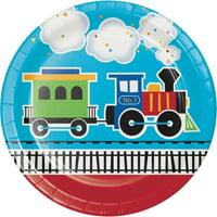 Creative Converting All Aboard Train Paper Plates, 8 ct