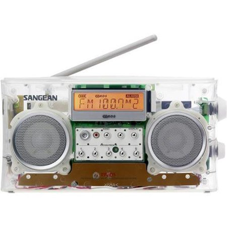 Sangean PR-D5CL AM FM RBDS Clear Radio 10 Memory Pre-sets Auto Seek Backlit LCD Display by