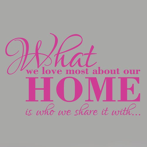 Sweetums Wall Decals What We Love Most About Our Home Wall Decal