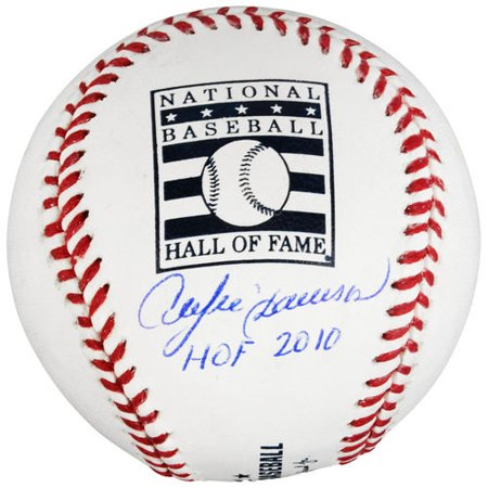 Andre Dawson Chicago Cubs Autographed Hall of Fame Baseball with HOF