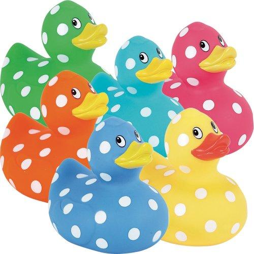 Elegant Baby Polka Dot Duck Asst, One Pack, Colors may vary