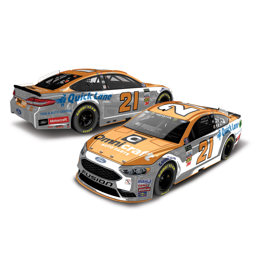 Ryan Blaney Action Racing 2017 #21 Omnicraft 1:24 Monster Energy Nascar Cup Series Color... by Lionel LLC