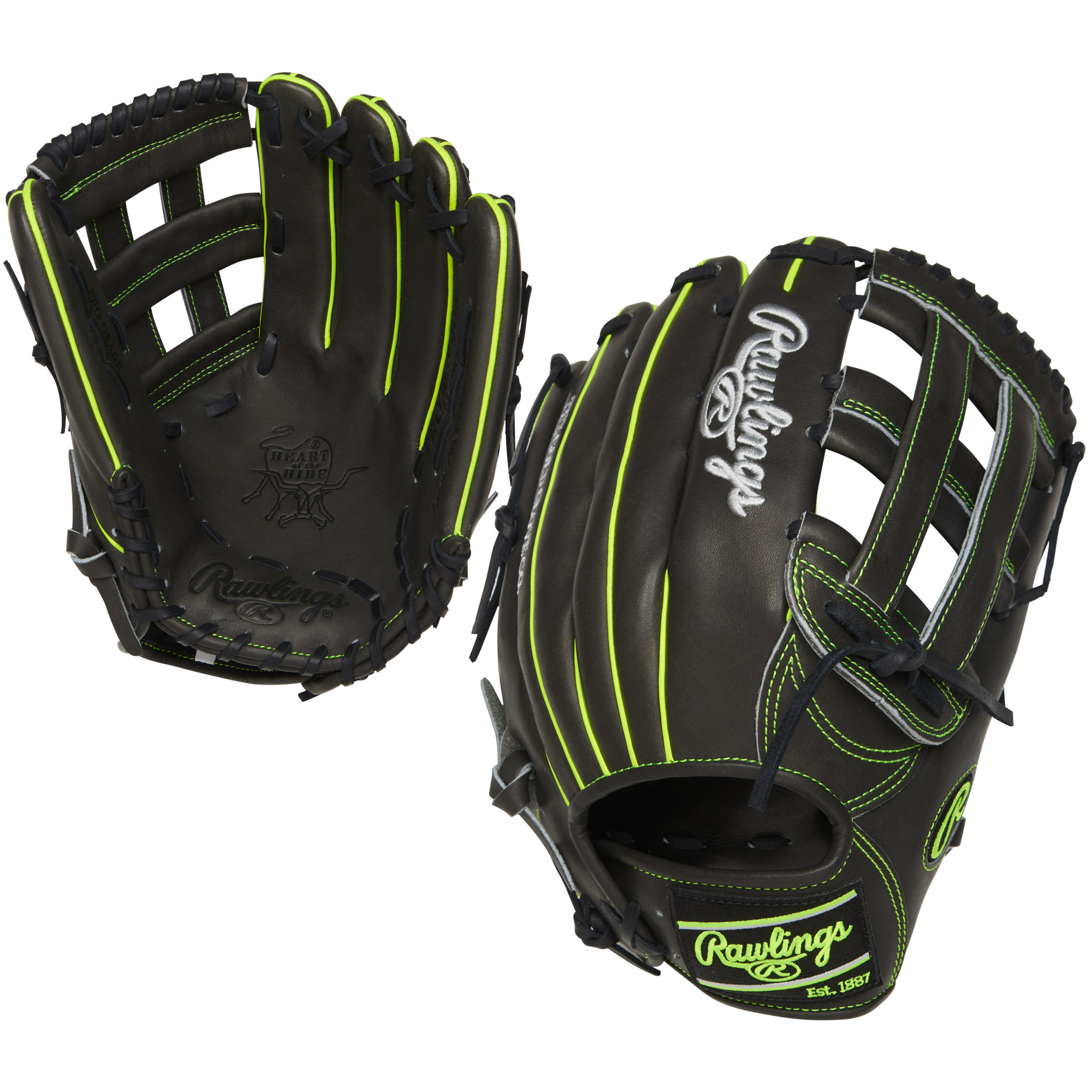 "Rawlings 12.75"" Heart of the Hide Series Baseball Glove, Right Hand Throw"