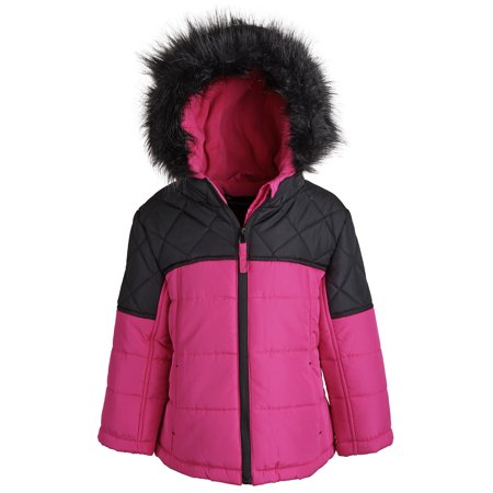 Boys Down Jacket Clearance (Rothschild Little Girls Down Alternative Fleece Winter Puffer Bubble Jacket)