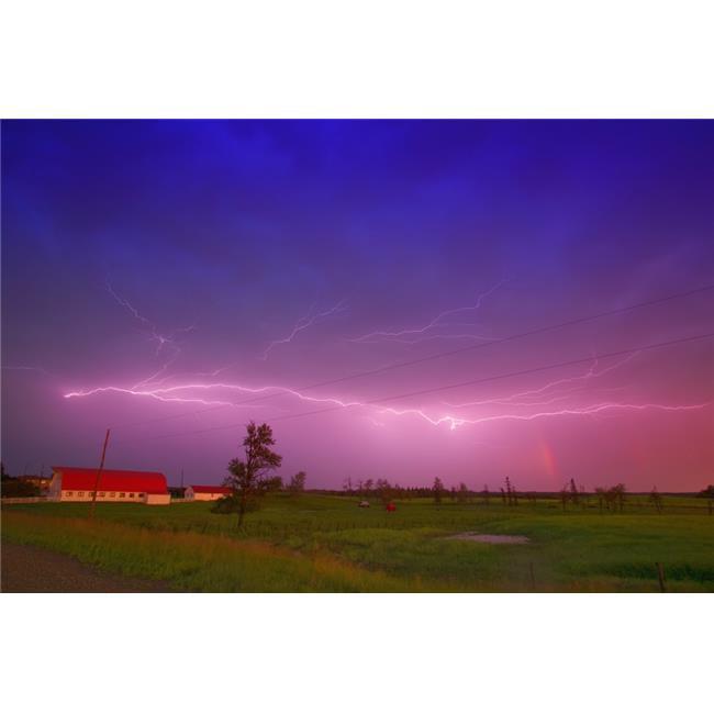 Lightning in Sky Saskatchewan Canada Poster Print by Carson Ganci, 34 x 22 - Large - image 1 de 1
