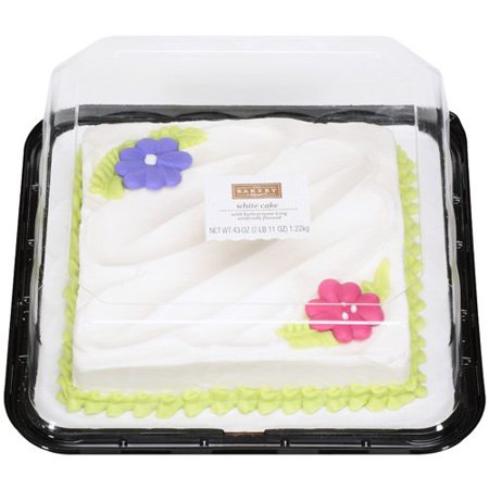 The Bakery At Walmart White Cake With Buttercreme Icing 43 Oz