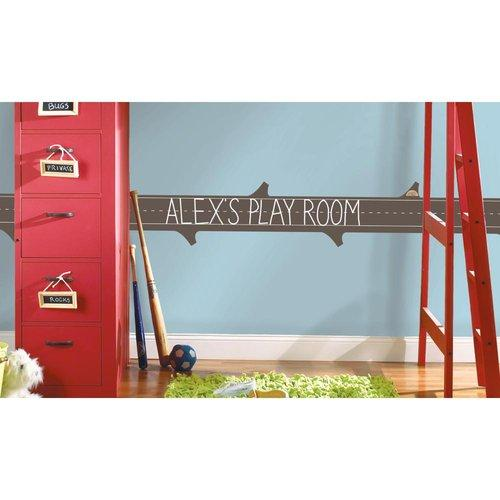 Learning Log Chalkboard Wall Accent Self Stick Decal