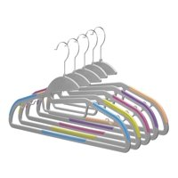 30 PACK Light-weight Clothes Hangers Non-slip Durable Clothes Hanger Hook Various Colors Perfect for Pants, Dress, Jacket, Underwear and Shirt Ultra Thin