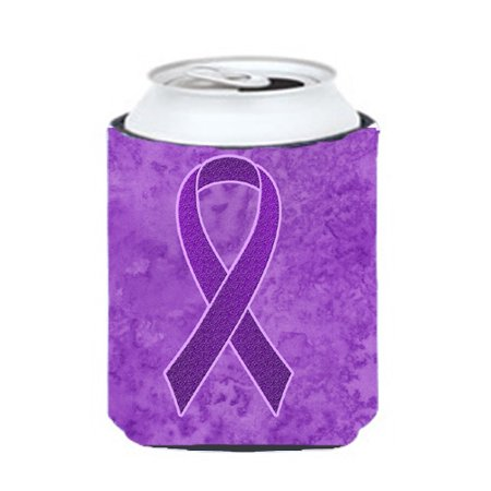 Purple For Cancer (Purple Ribbon for Pancreatic and Leiomyosarcoma Cancer Awareness Can or Bottle)