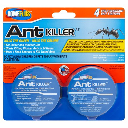 Homeplus Ant Killer Child Resistant Bait Stations  4 Ct