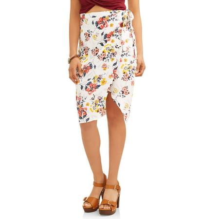 - Floral Wrap Skirt