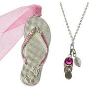 Flip Flop Ornament and Necklace Set