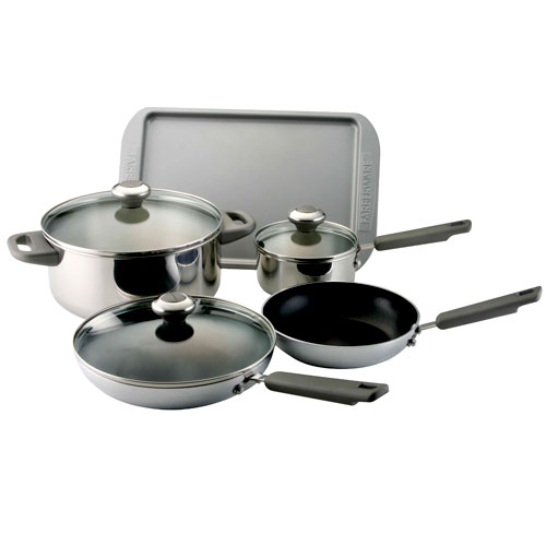 Farberware 10pc Stainless Cookware Set - Walmart.com