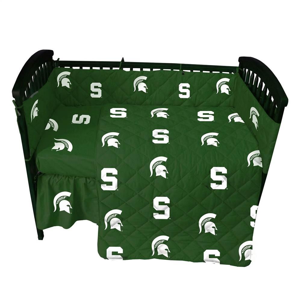 Michigan State 5 Pc Baby Crib Logo Bedding Set